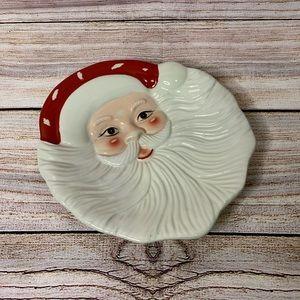Pottery Barn Santa Claus Christmas Plate NWT